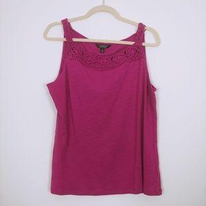 Lauren Ralph Lauren Pink Tank Size XL